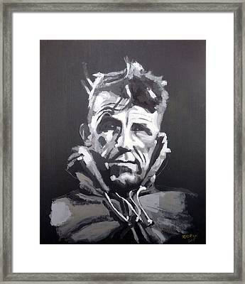 Framed Print featuring the painting Sir Edmund Hillary by Richard Le Page