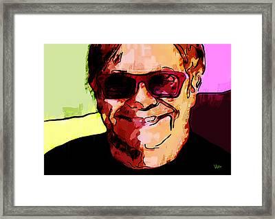 Sir Elton John Framed Print by Vya Artist