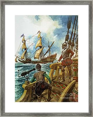Sir Francis Drake Framed Print by Peter Jackson