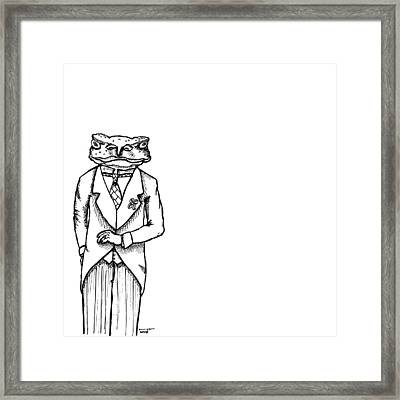 Sir Franklin The Toad Framed Print by Karl Addison
