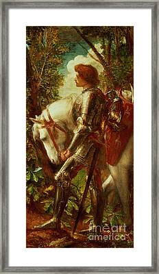 Sir Galahad Framed Print by George Frederic Watts