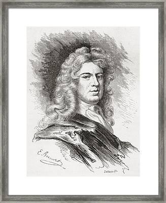 Sir Godfrey Kneller, 1st Baronet, 1646 Framed Print by Vintage Design Pics