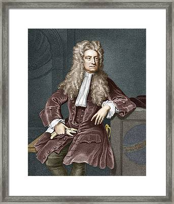 Sir Isaac Newton, British Physicist Framed Print by Sheila Terry