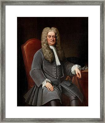 Sir Isaac Newton Framed Print by War Is Hell Store