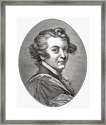 Sir Joshua Reynolds, 1723 Framed Print by Vintage Design Pics
