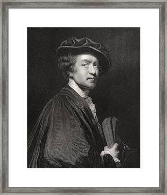 Sir Joshua Reynolds 1723 To 1792 Framed Print by Vintage Design Pics