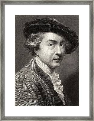Sir Joshua Reynolds,1723-1792.english Framed Print by Vintage Design Pics