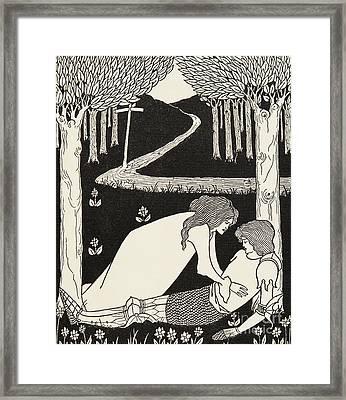 Sir Lancelot And Dame Elaine Framed Print