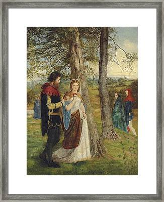 Sir Lancelot And Queen Guinevere Framed Print by James Archer