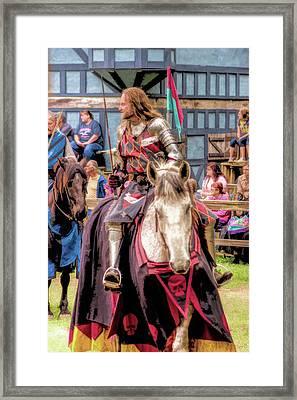 Sir Lancelot Du Lac - V4 Framed Print