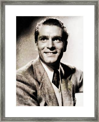 Sir Laurence Olivier, Vintage Actor By John Springfield Framed Print by John Springfield