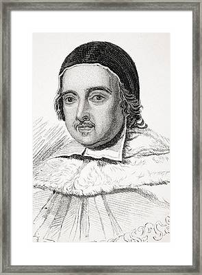 Sir Matthew Hale 1609-1676 Lord Chief Framed Print by Vintage Design Pics