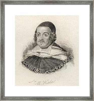 Sir Matthew Hale 1609 - 1676. Lord Framed Print by Vintage Design Pics