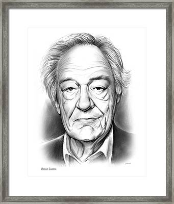Sir Michael Gambon Framed Print