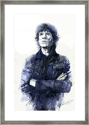 Sir Mick Jagger Framed Print by Yuriy Shevchuk