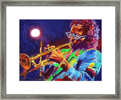 Sir Miles Davis Framed Print by David Lloyd Glover