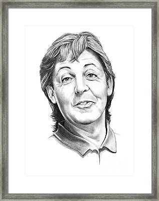 Sir Paul Mccartney Framed Print by Murphy Elliott