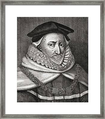 Sir Ranulph Crewe 1558 - 1646. English Framed Print by Vintage Design Pics