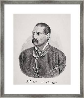 Sir Richard Francis Burton, 1821-1890 Framed Print
