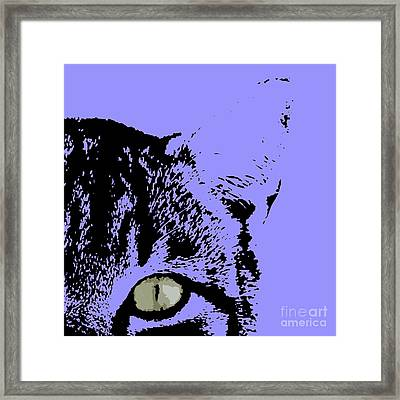 Sir Rodgerson On Purple Background Framed Print by Pablo Franchi