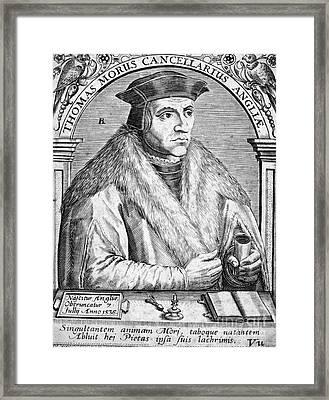 Sir Thomas More (1478-1535) Framed Print