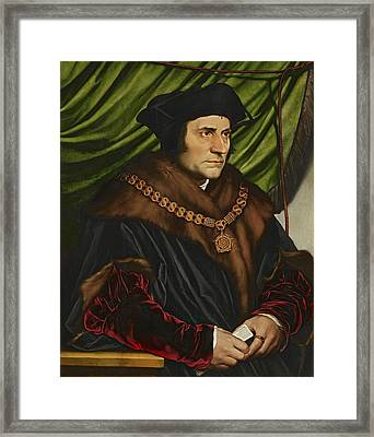 Sir Thomas More Framed Print by War Is Hell Store