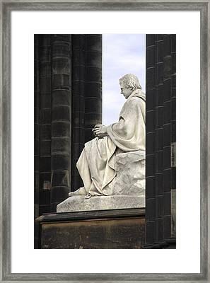 Sir Walter Scott Statue Framed Print by Mike McGlothlen