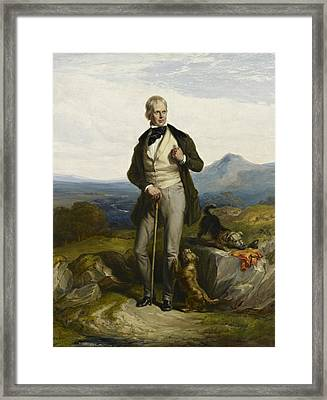 Sir Walter Scott Framed Print by William Allan