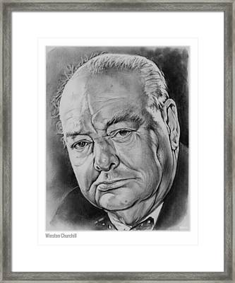 Sir Winston Churchill Framed Print by Greg Joens