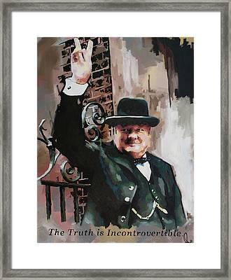 Sir Winston Churchill Victory Framed Print