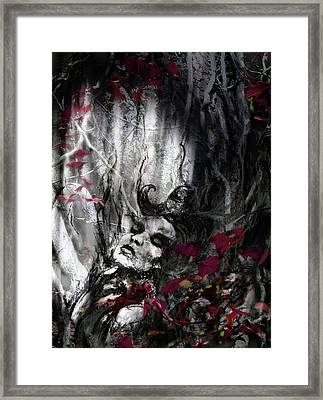 Siren Of The Crimson Forest  Framed Print