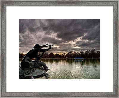Sirena Sobre Tortuga Framed Print by Felix M Cobos
