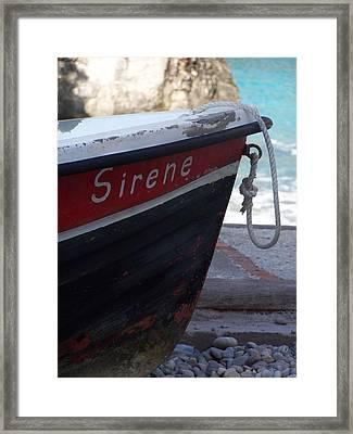 Sirene Framed Print by Adam Schwartz