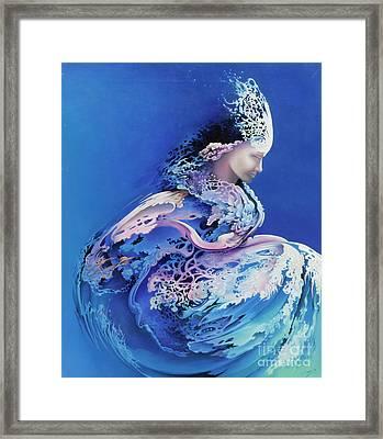 Sirenetta Framed Print by Symona Colina