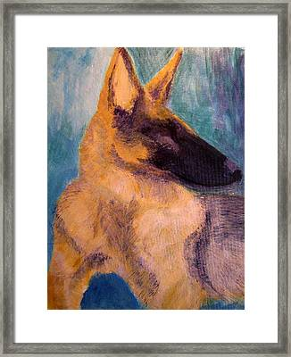 Framed Print featuring the painting Sirius Canis Major by Barbara Giordano
