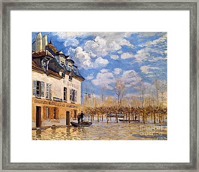 Sisley: Flood, 1876 Framed Print