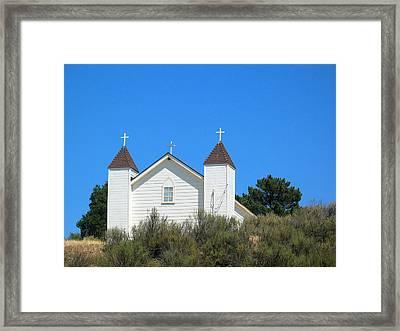 Sisquoc Church Framed Print by Deborah Hildinger