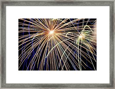 Sister Bay Fireworks Framed Print