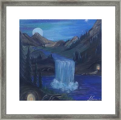 Sister Caves Framed Print by Lori Lafevers
