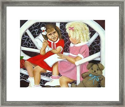 Sister Chat Framed Print by Joni McPherson