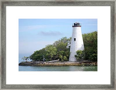Sister Island Lighthouse Framed Print by The Art of Alice Terrill