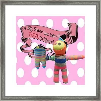 Sister Love Framed Print by Ellen Silberlicht