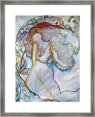 Sister Nature Framed Print by Rosalinde Reece