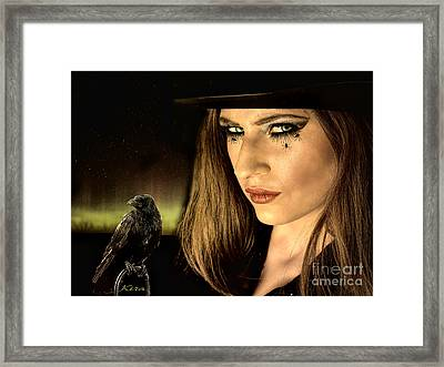 Sister Raven Series - Spider Eyes  Framed Print