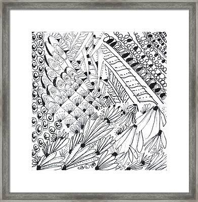 Sister Tangle Framed Print