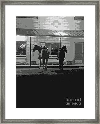 Sisterdale Saturday Night Framed Print by Joe Jake Pratt