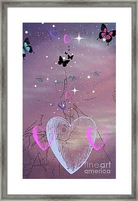 Sisterly Love Framed Print by Diamante Lavendar