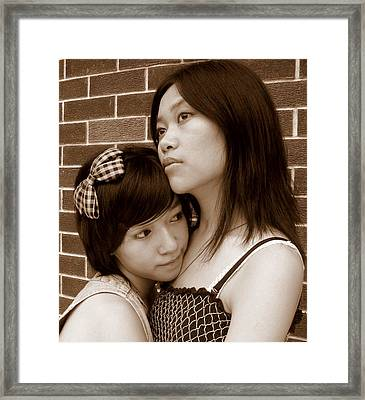 Sisters 3 Framed Print by Annie
