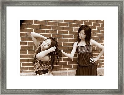 Sisters 5 Framed Print by Annie