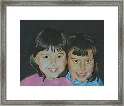 Framed Print featuring the drawing Sisters  by Ana Tirolese